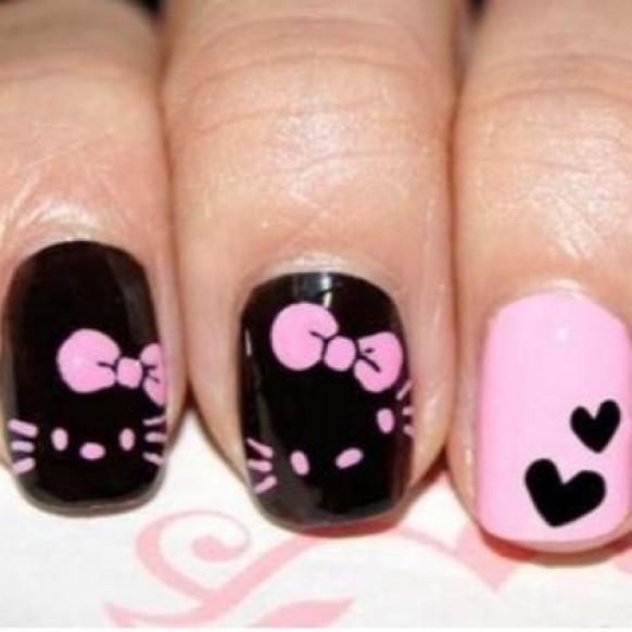 Hello Kitty Toe Nail Art Designs Hession Hairdressing