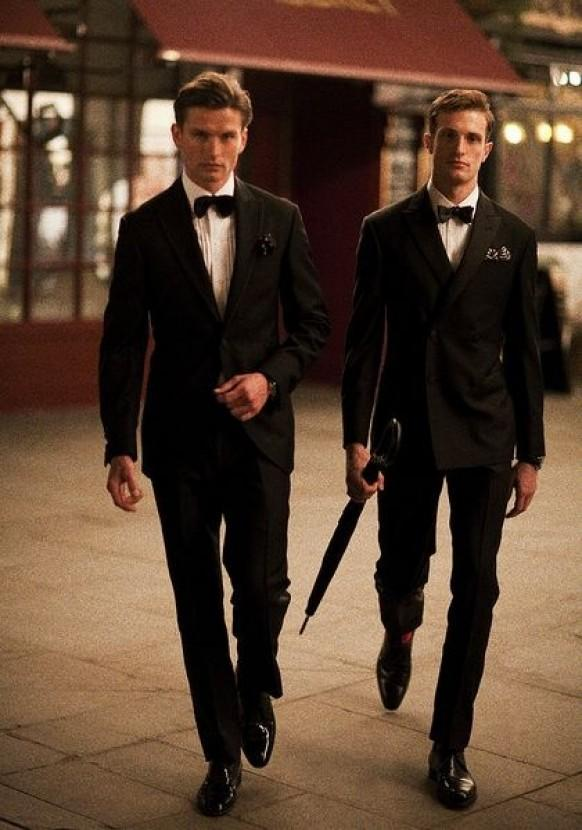 Hackett London Black Groom Suits ♥ Special Design Groom Suits ...