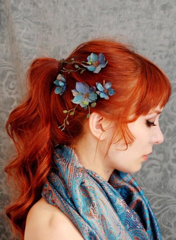 Как сделать рыжие волосы яркими цветами