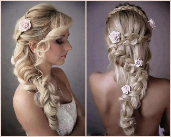 Roses Braid Wedding Hairstyle Gorgeous Wedding Hairstyles For