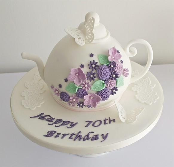 Teapot 70Th Birthday Cake
