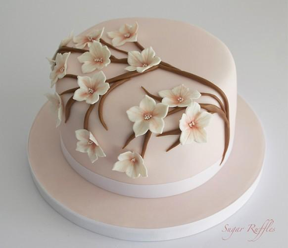 Cherry Blossoms Wedding Cherry Blossom Birthday Cake