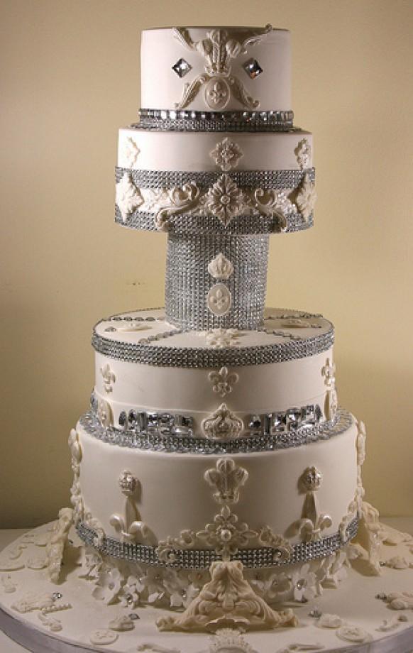 Wedding Cakes Bling Wedding Cake 1987957 Weddbook