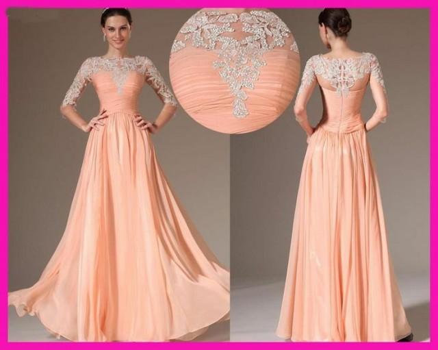Wedding Guest Party Evening Gown Long Transparent Lace