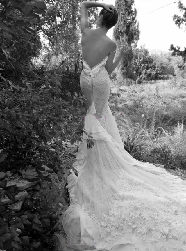 Spaghetti Luxury Lace Wedding Dresses Inbal Dror Sexy
