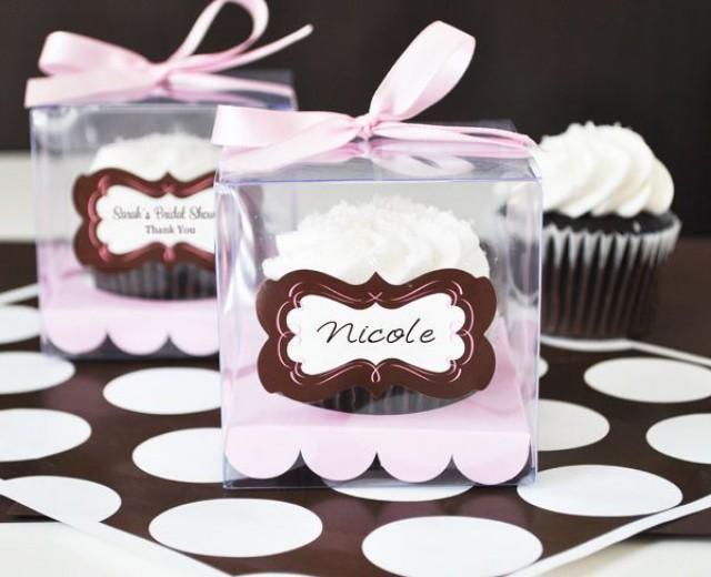 Details About 12 Clear Plastic Cupcake Boxes Wedding Favor Favors ...
