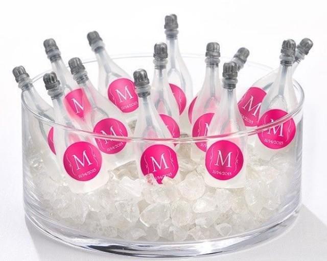 Details About 120 Personalized Monogram Bubble Champagne Bottles ...