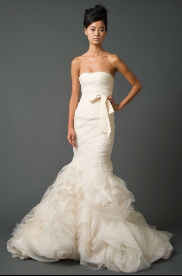 Silk Mermaid Fishtail Sample Wedding Dress Bridal Gown \'Gemma ...