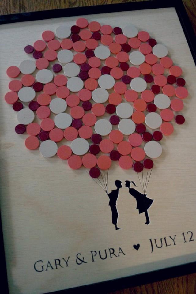 Alternative Wedding Guest Book Couple Balloon Guestbook