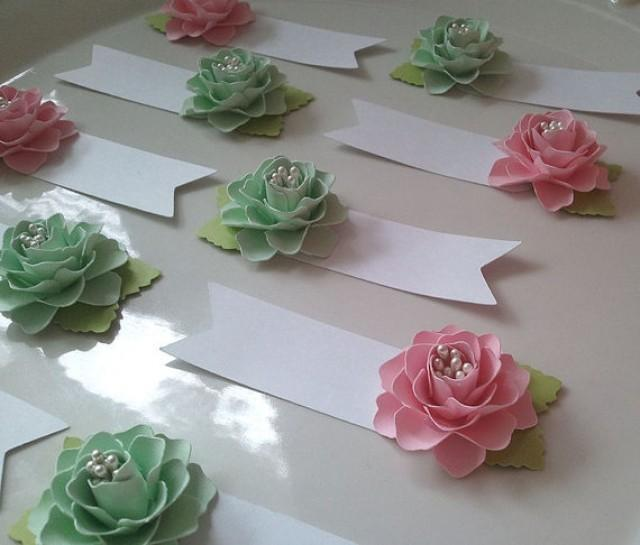 Wedding Card Table Ideas: Paper Flower Escort Cards For Weddings