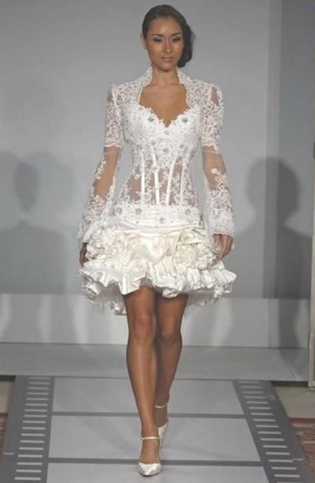 Lingerie mini wedding dress 2352006 weddbook for Lingerie for wedding dress