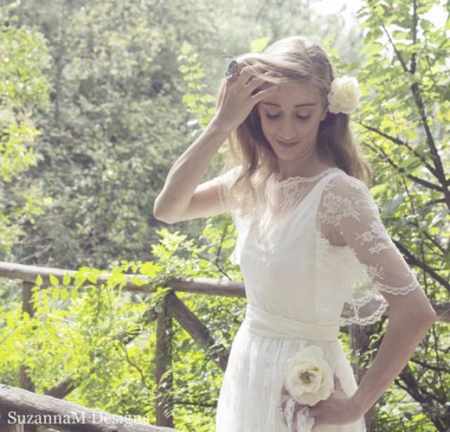Ivory Bohemian Wedding Dress Lace Wedding Dress Long Gown Boho Gown Bridal Gypsy Wedding Dress Handmade By Suzannam Designs New 2461463 Weddbook,Sparkle Glitter Tulle Wedding Dress