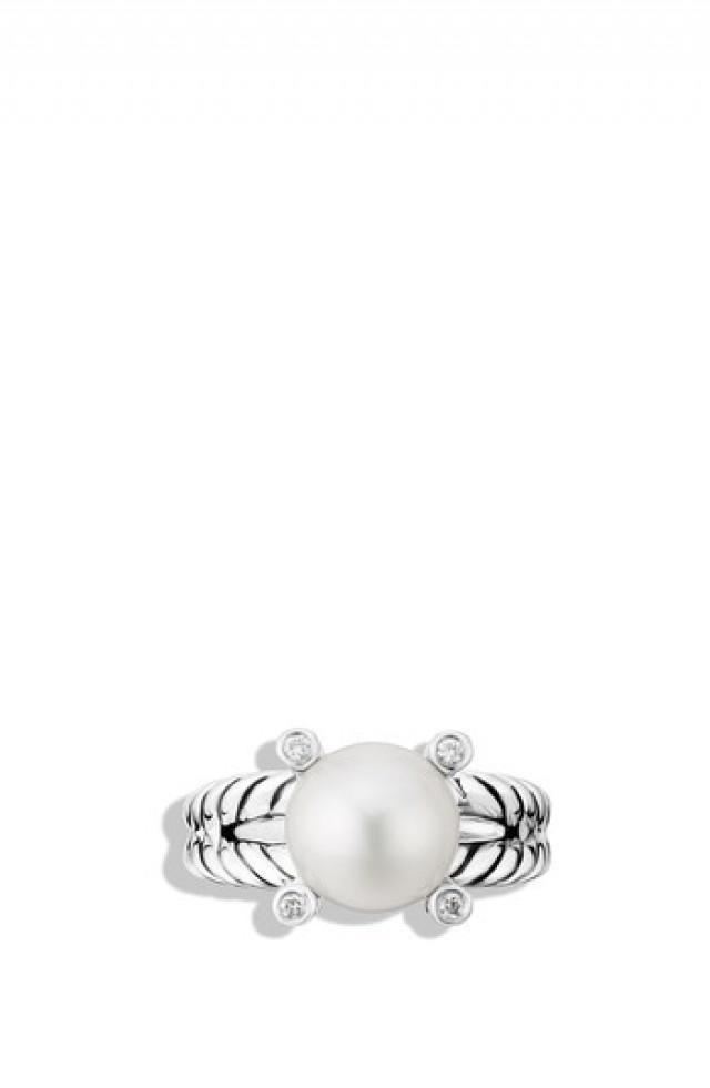 David Yurman Cable Pearl Ring With Diamonds 2800005