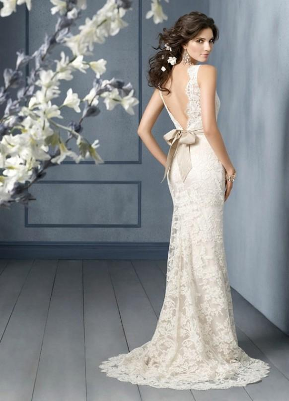 Jim Hjelm Bridal Collection Lace V Back Wedding Dress 789859 Weddbook