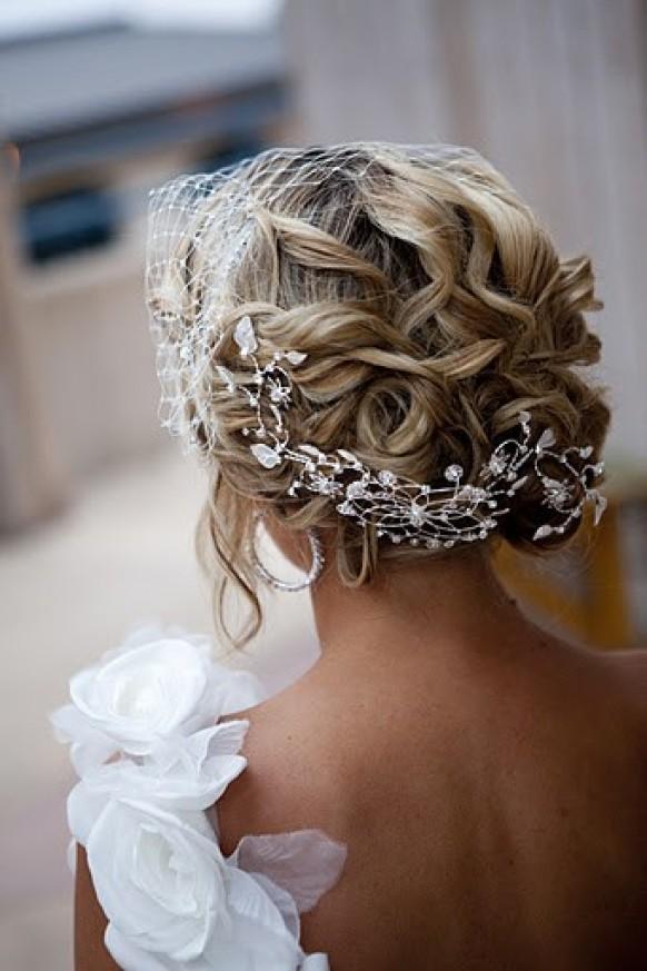 Updo Hair Model - Gorgeous Wavy Updo Wedding Hair #790398 - Weddbook