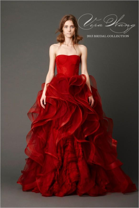 Vera Wang Scarlet Wedding Dresses ♥ Gorgeous Prom Dress Ideas ...
