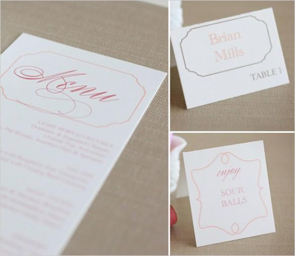 Diy free wedding menu 792979 weddbook solutioingenieria Gallery