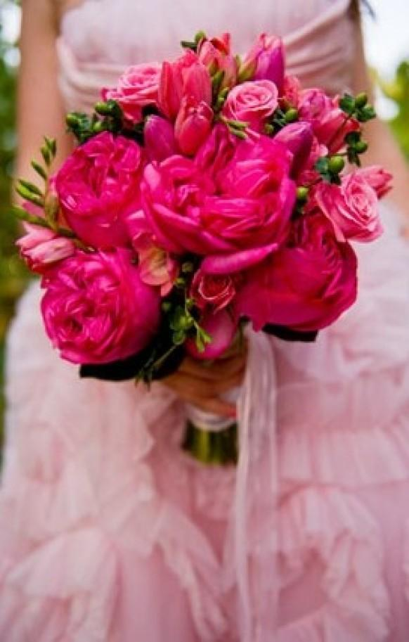 Pink wedding pink wedding bouquets 796518 weddbook mightylinksfo