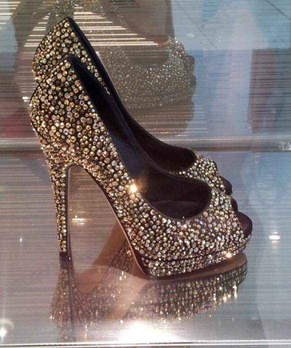 c4fd9b7b1698 Silver And Black Sparkly Wedding Shoes ♥ Glitter Bridal Shoes ...