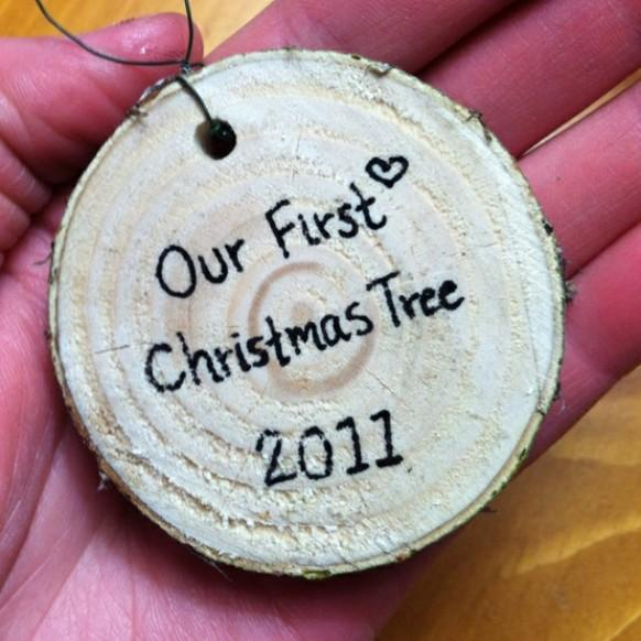 Our First Christmas Tree Ornaments ♥ DIY Rustic Christmas ...