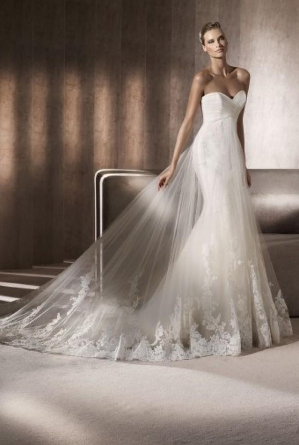 Pronovias Pronovias Strapless Wedding Dresses 803020