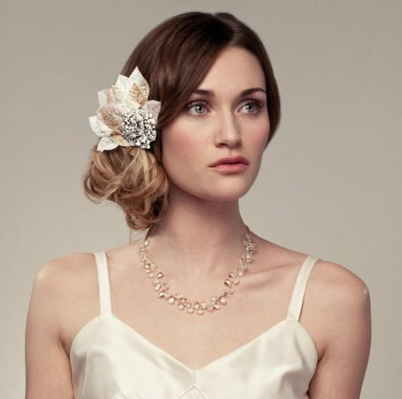 To The Side Wedding Hairstyles: Chic Wedding HairStyles ♥ Wedding Side Updo Hairstyle