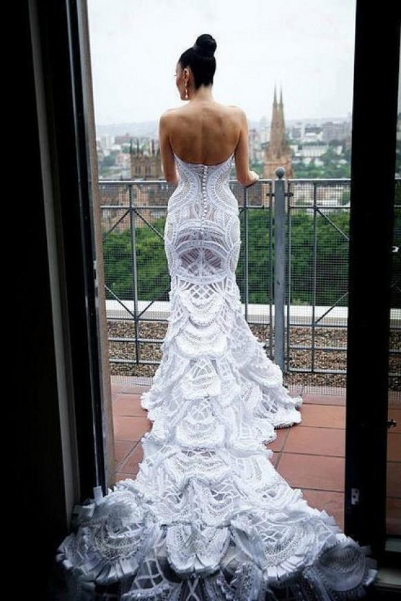 Chic Special Design Wedding Dress Lace Wedding Dress 806041