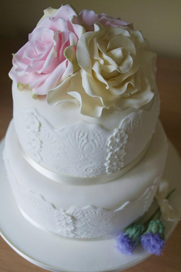 wedding cake deals scotland wedding cakes roses amp thistle lace wedding cake 1987694 22356