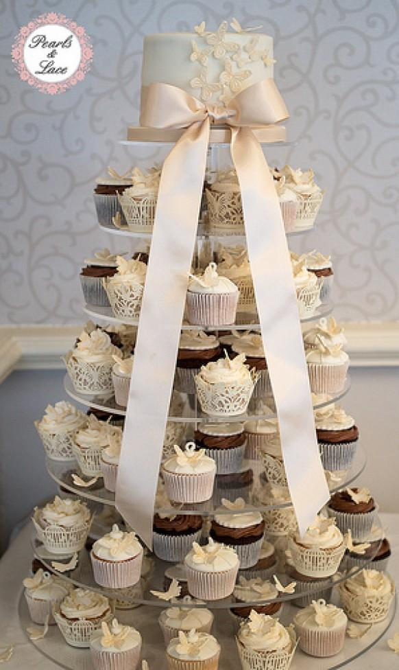 cupcake tower for wedding cakes wedding cupcakes butterfly cupcake wedding cake tower 13155