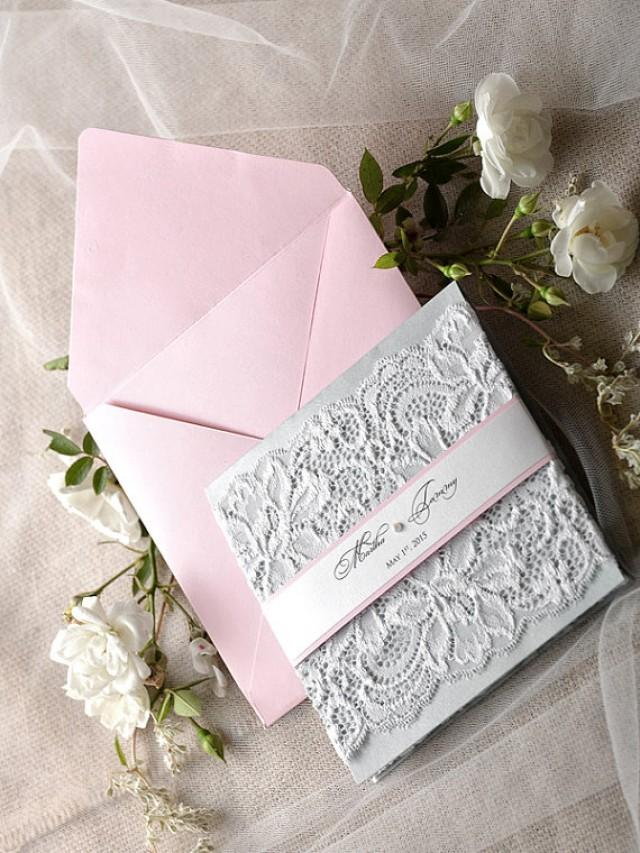 vintage lace wedding invitations custom listing 20 pink wedding invitation lace pink 8288