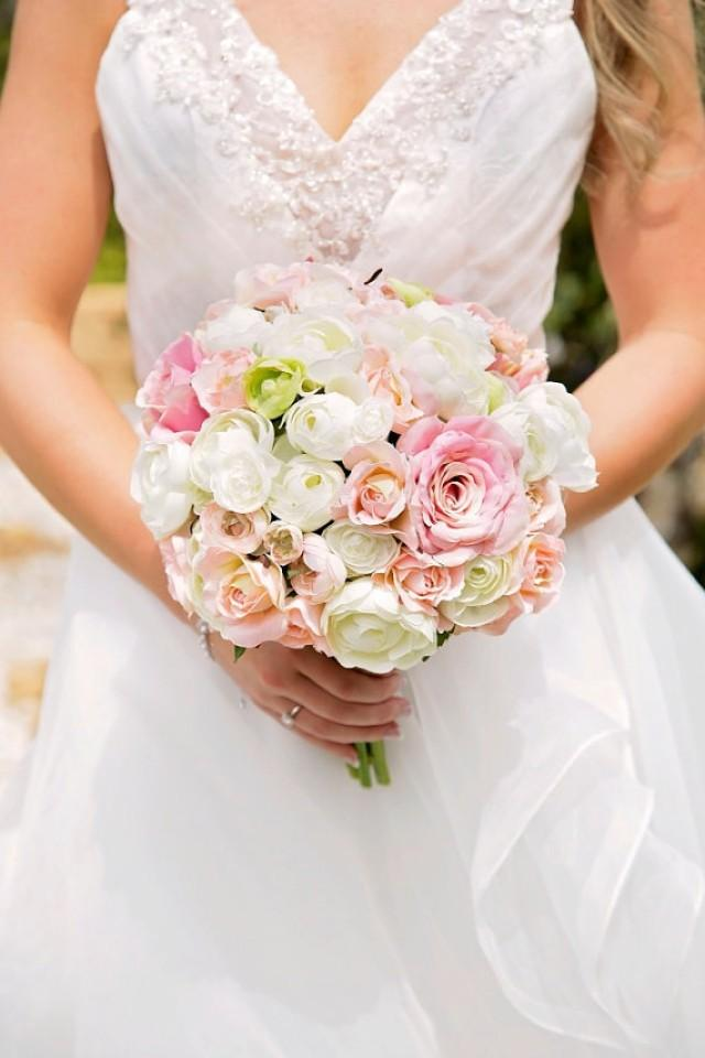 flower bouquets wedding wedding bouquet bouquet pink ivory and 4145